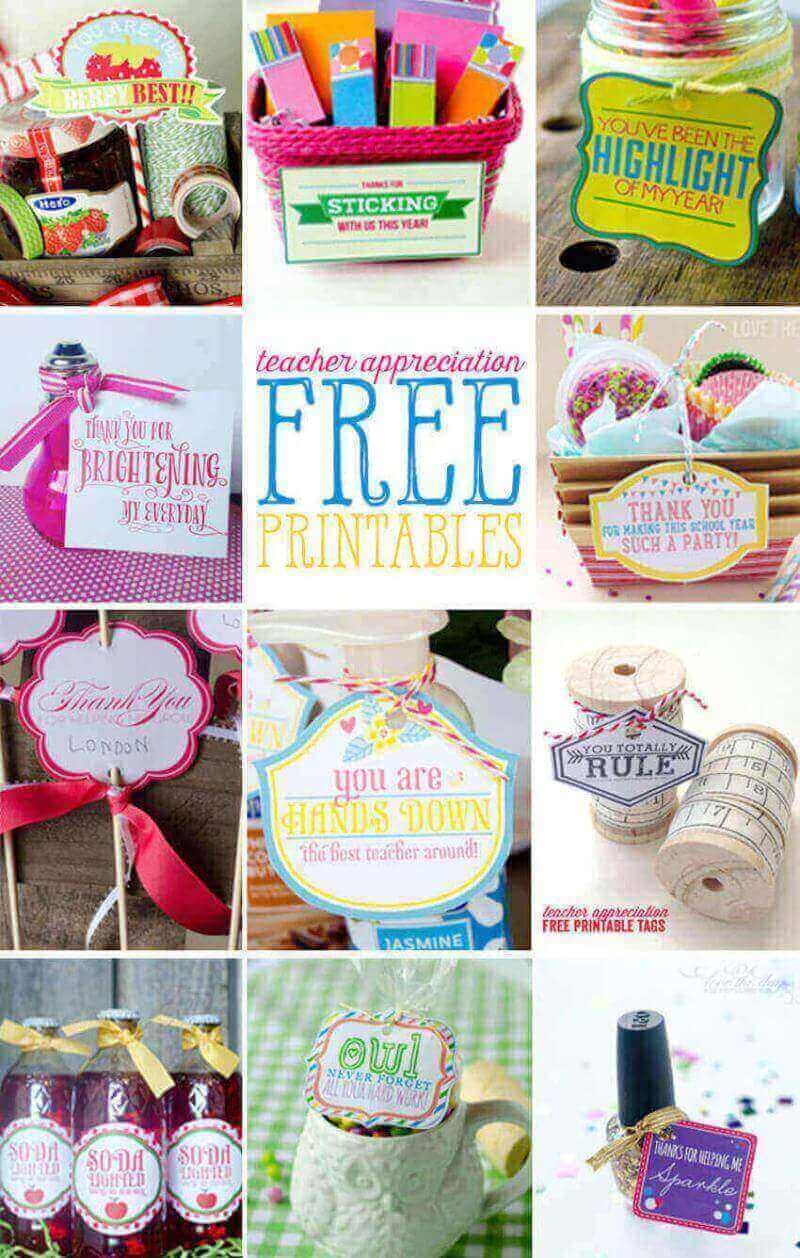 DIY home projects: free printables for teacher appreciation gifts