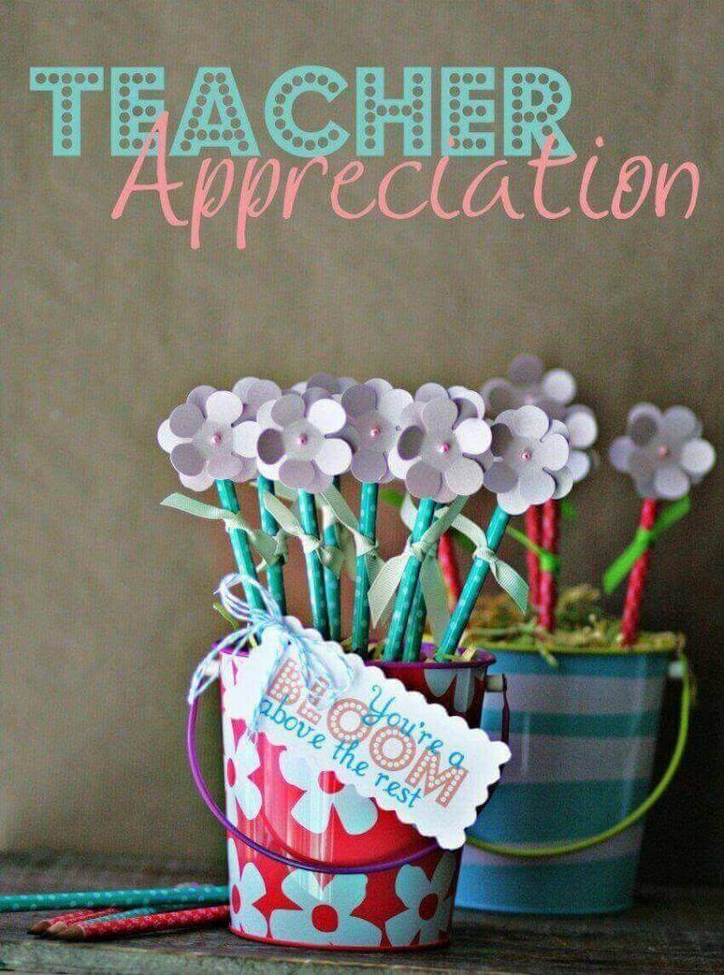 Wall decor art gifts: teacher appreciation pencil flower bouquet