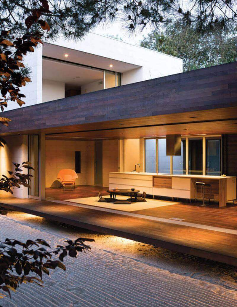 "Exterior Home Design: Shino and Ken Mori own this beautiful Japanese inspired home nicknamed ""The Hidden Fortress."