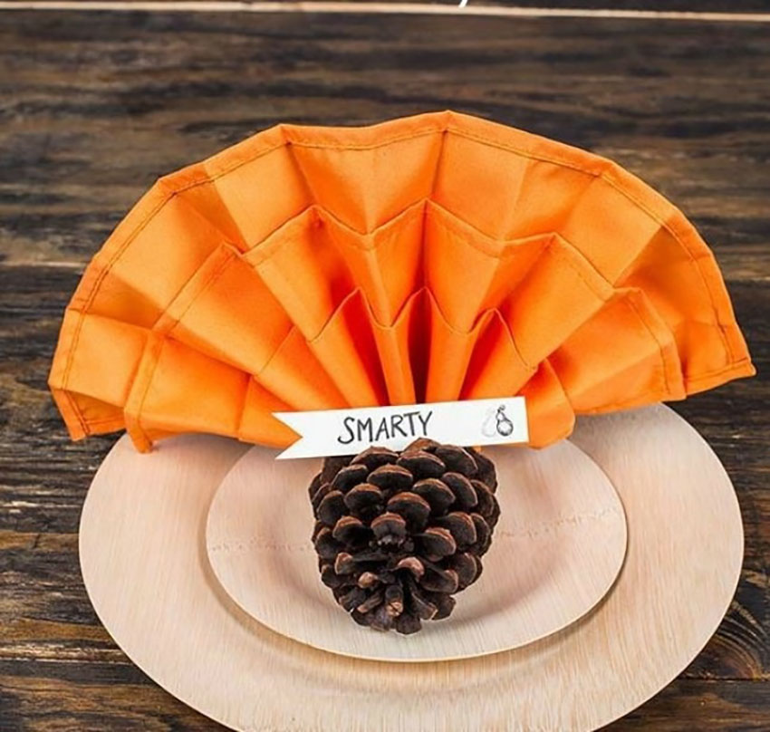 Thanksgiving turkey napkin holder