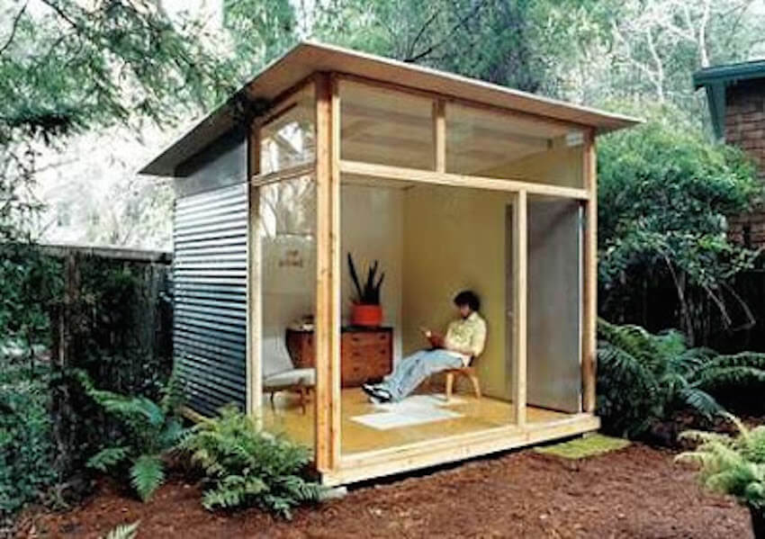 Build a concealed cabin so you can enjoy the outdoors in comfort.