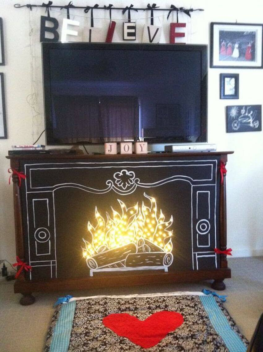 DIY fireplace without the heat