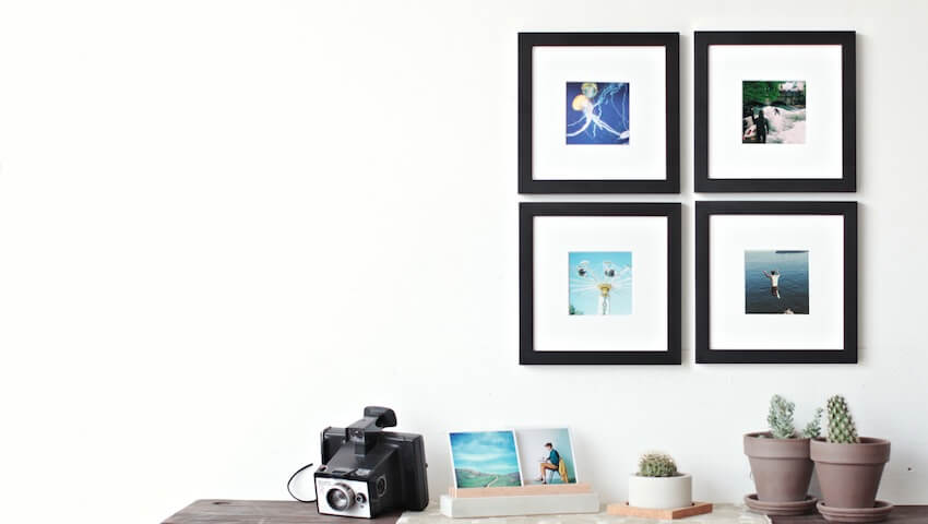 Frame your photos for instant wall art