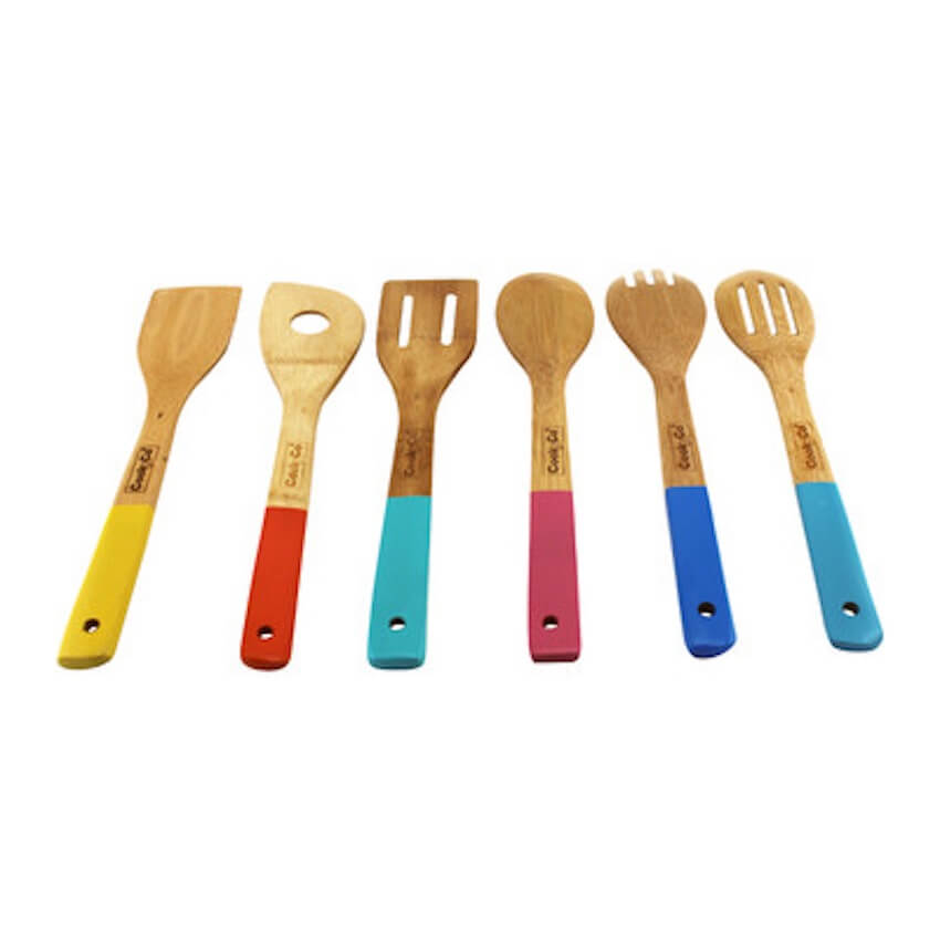 Color coded custom painted spoons