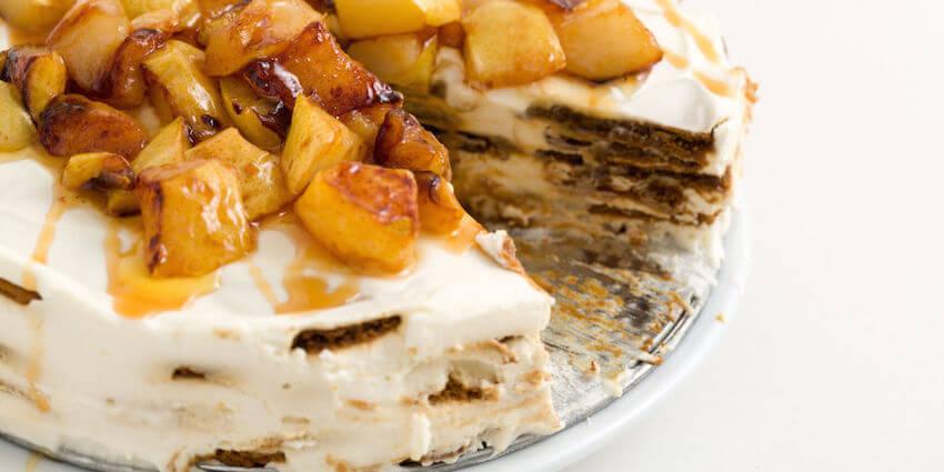 Caramel apple cheesecake icebox cake