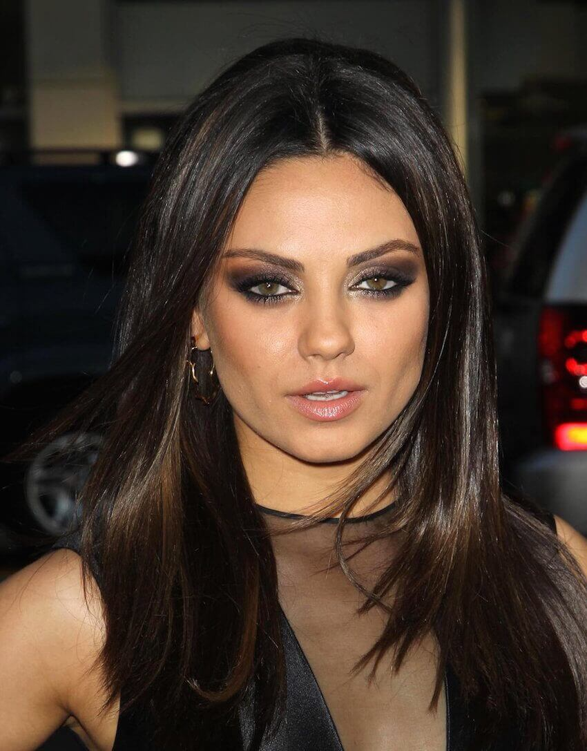 Mila Kunis is known for her smokey eye look