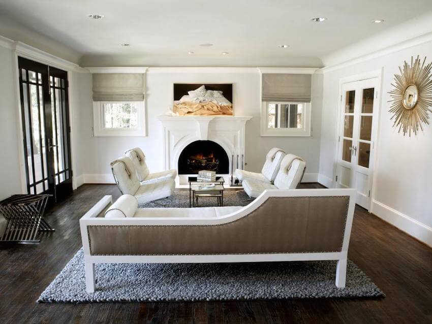 Living room interior: A neutral and bronze decor pallet can highlight the beauty without overwhelming the eyes.