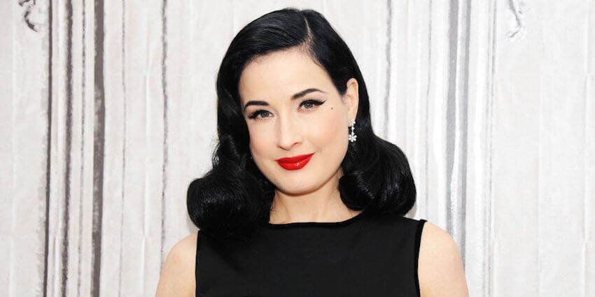Dita Von Teese is known for her vintage appeal and flawless makeup.
