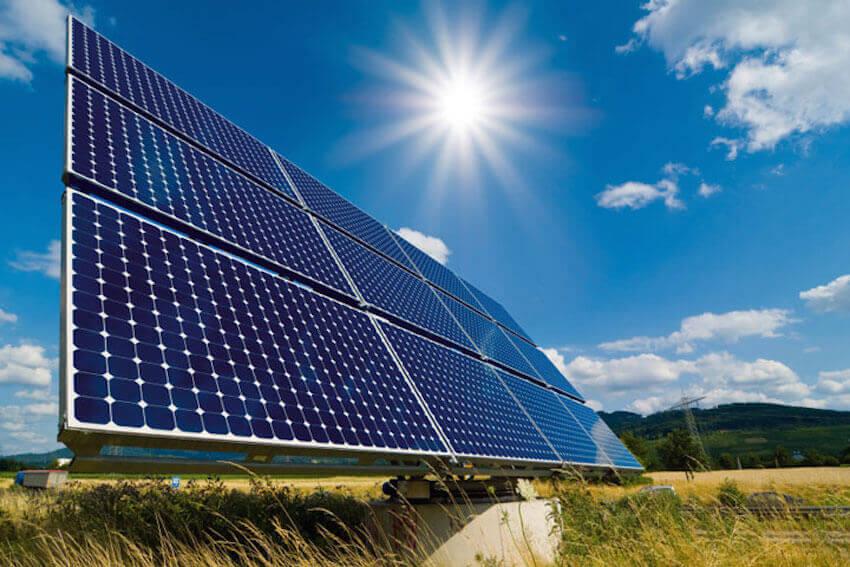 Solar panels on a house exterior can be a major energy saver