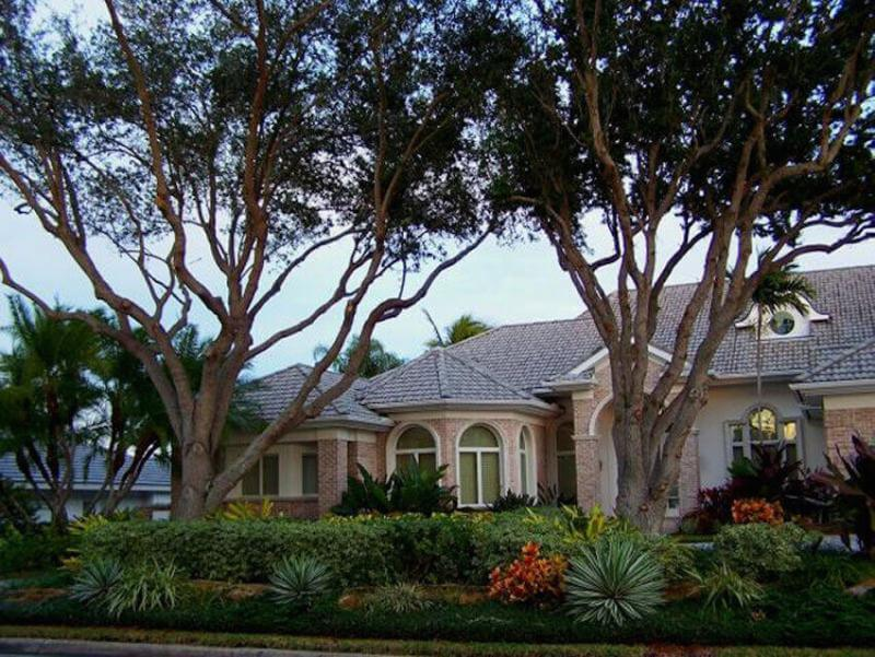 Landscape done right for a home exterior lawn