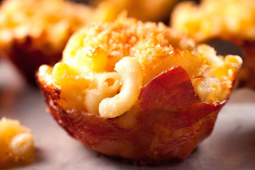 Homeowners' favorites: Using bacon as cups for your mac and cheese is a brilliant and delicious idea!