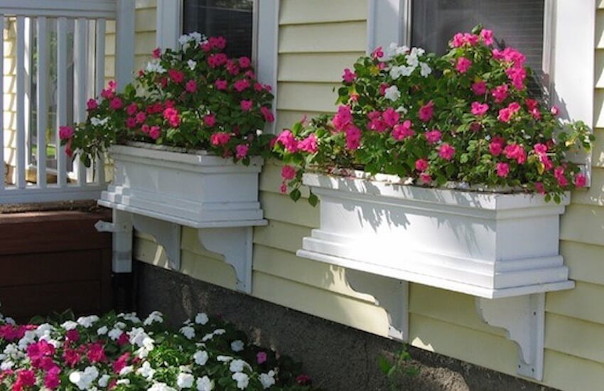 The classic exterior look for window box planters