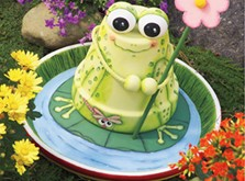 A happy painted potted frog, because