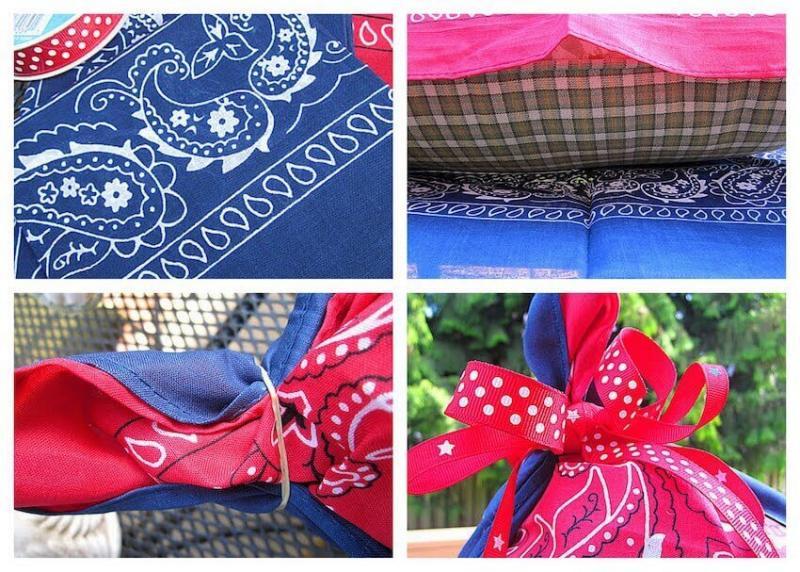 DIY Bandana decor for exterior home parties this 4th