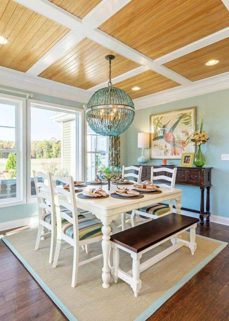 Cute and cozy, the beach cottage chic style dining room will make your home feel lighter, happier, and closer to the beach.