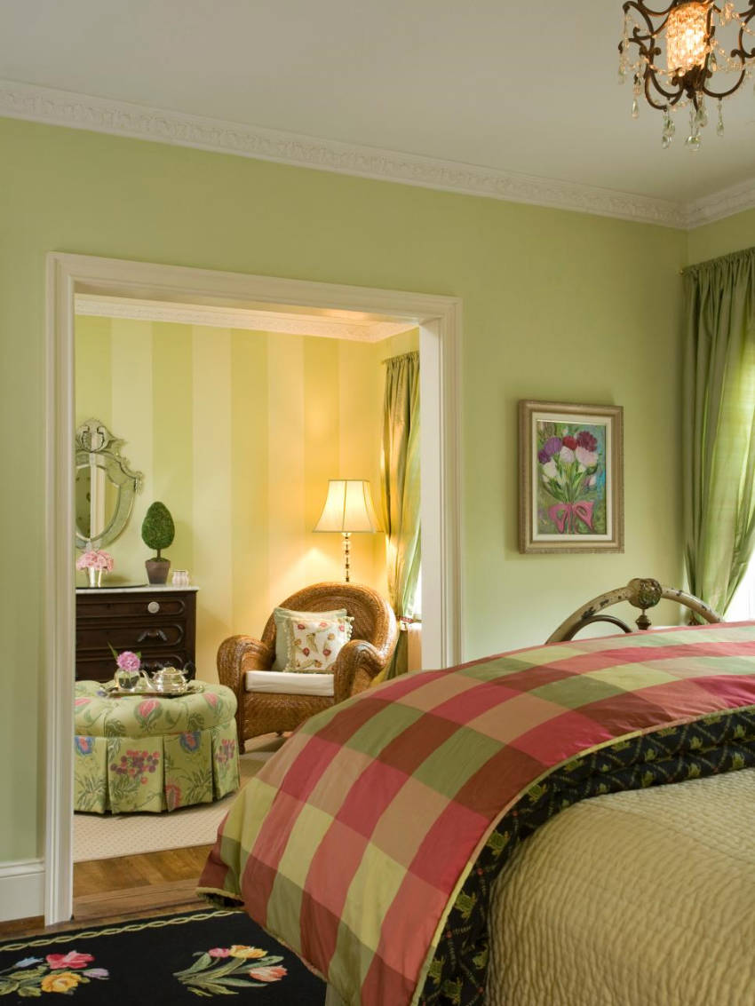 Nature Green is a beautiful paint color for spring!