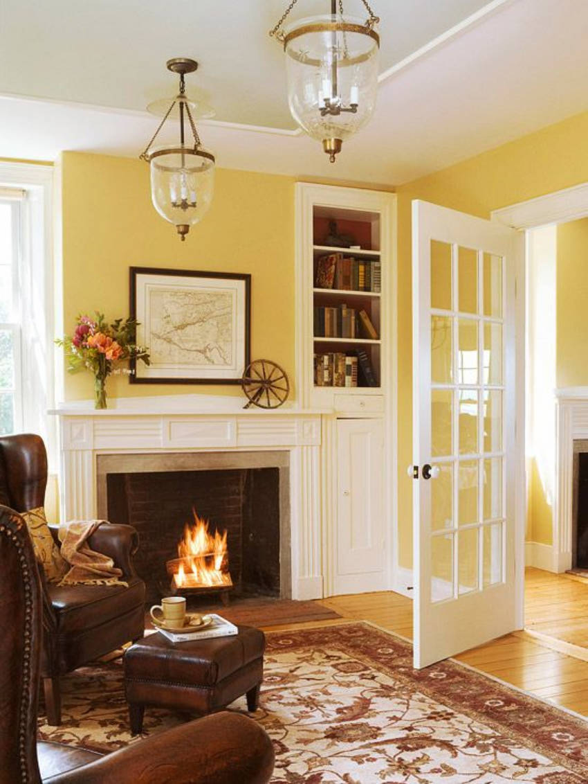 Yellow is a great calming and happy color with the right hue.