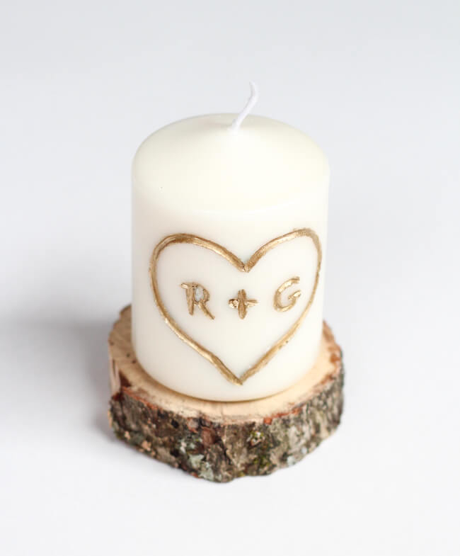 Home DIY Project: Carve your very own initials into a candle