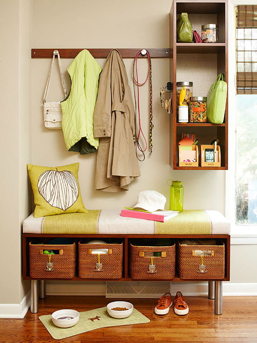 Organized Entrance - Home Projects for the New Year