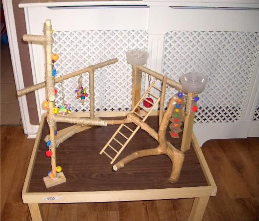 Wooden pet obstacle course
