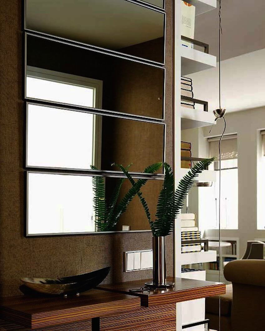 Cut your mirror into different sizes for decorative purposes