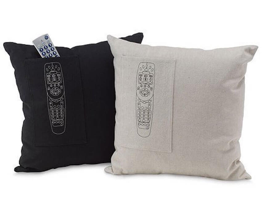 Never lose the remote into the couch again with these cute pillows.