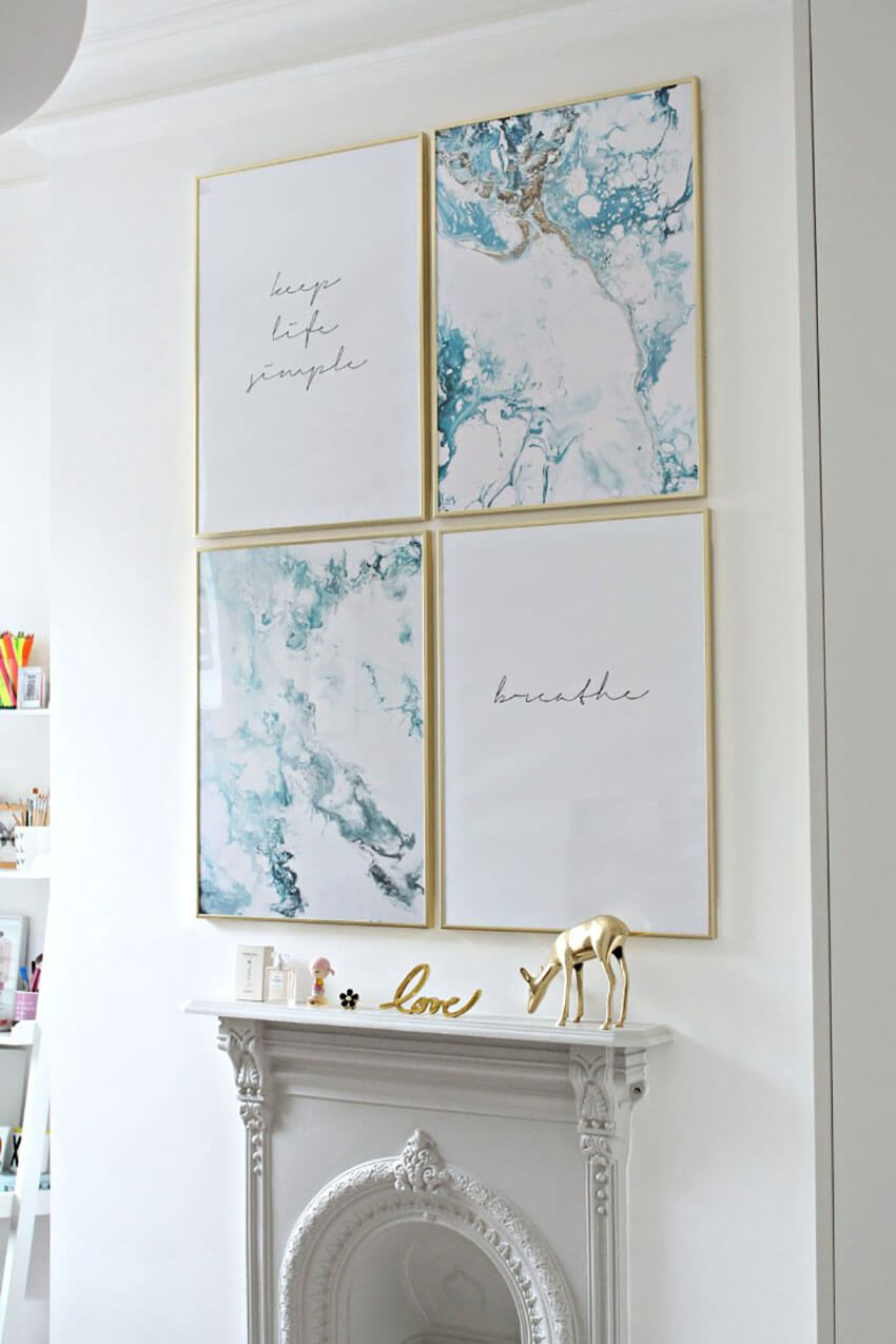 Add the marble effect in your gallery wall!