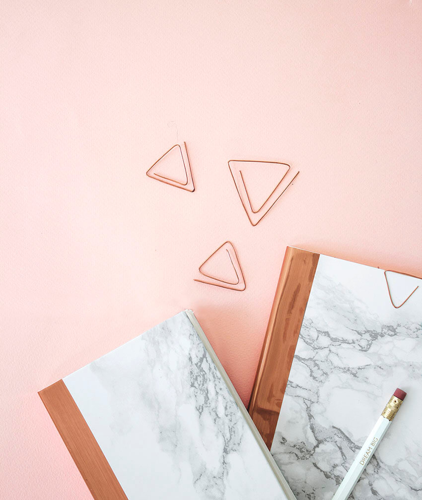This marble notebook is great gift option.