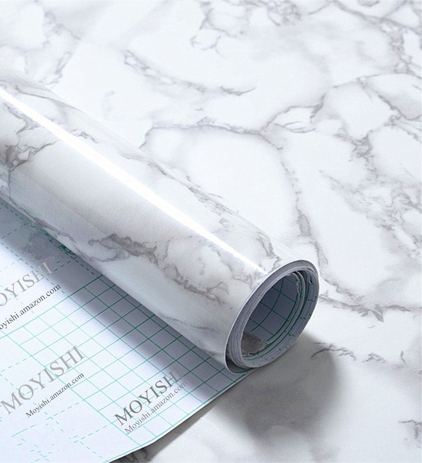 From countertops to tables and even whole pieces of furniture, a roll of this marble paper can result in a big transformation for any normal-looking piece!