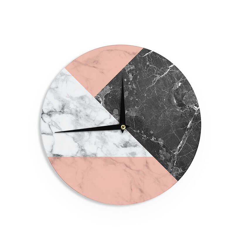 This beautiful option from Amazon combines the marble effect with a beautiful geometric design.