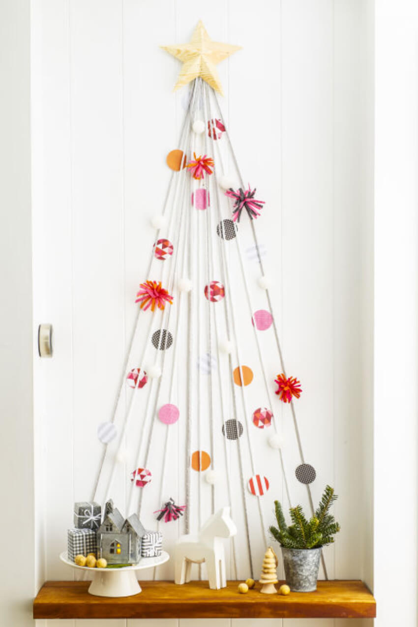 This Christmas tree alternative is super easy to make!