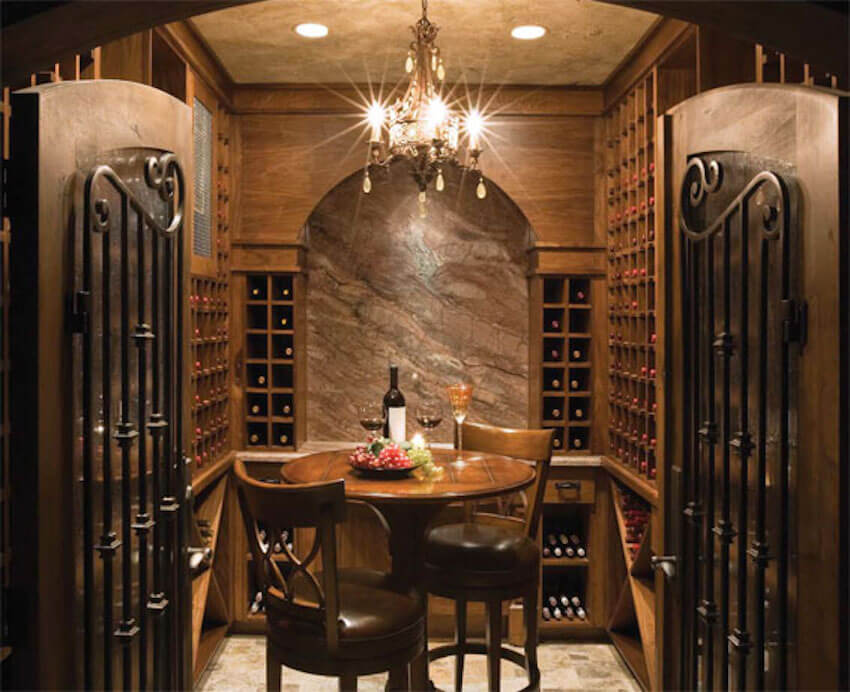 Entire basement remodel for the perfect wine cellar