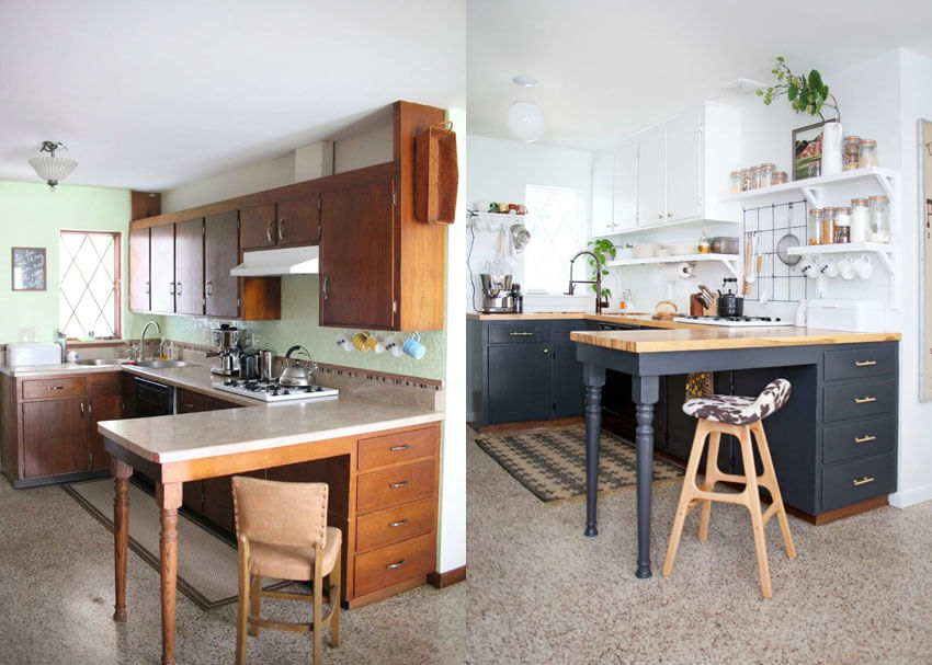 5 Creative Before and After Kitchen Makeovers on A Budget ...