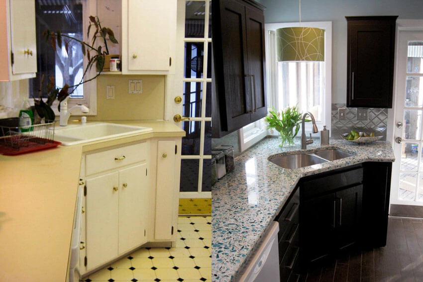 Gorgeous countertops redone for affordable rates