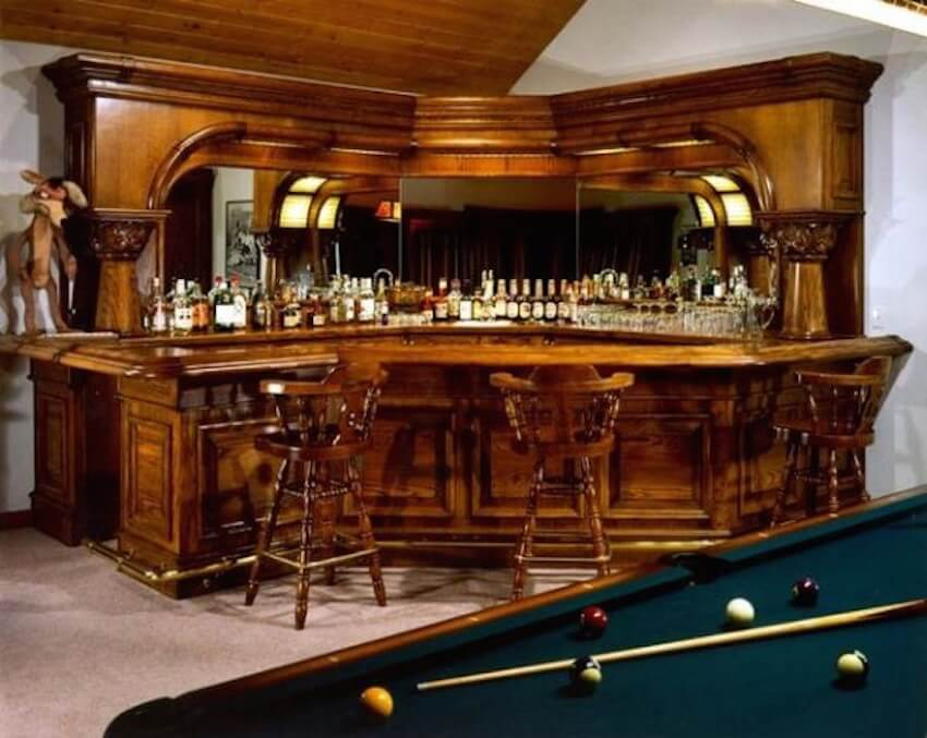 Enjoy a lounge style bar with a pool table