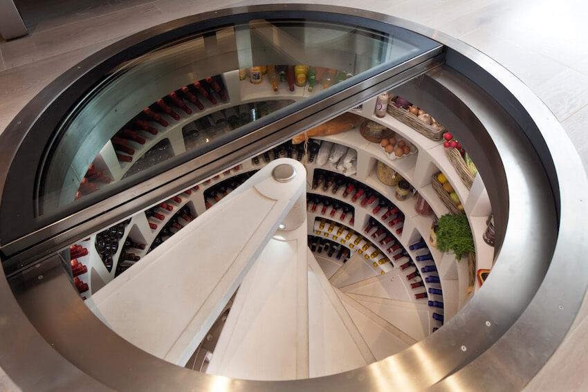 The ultimate in modern wine storage: spiral cellar