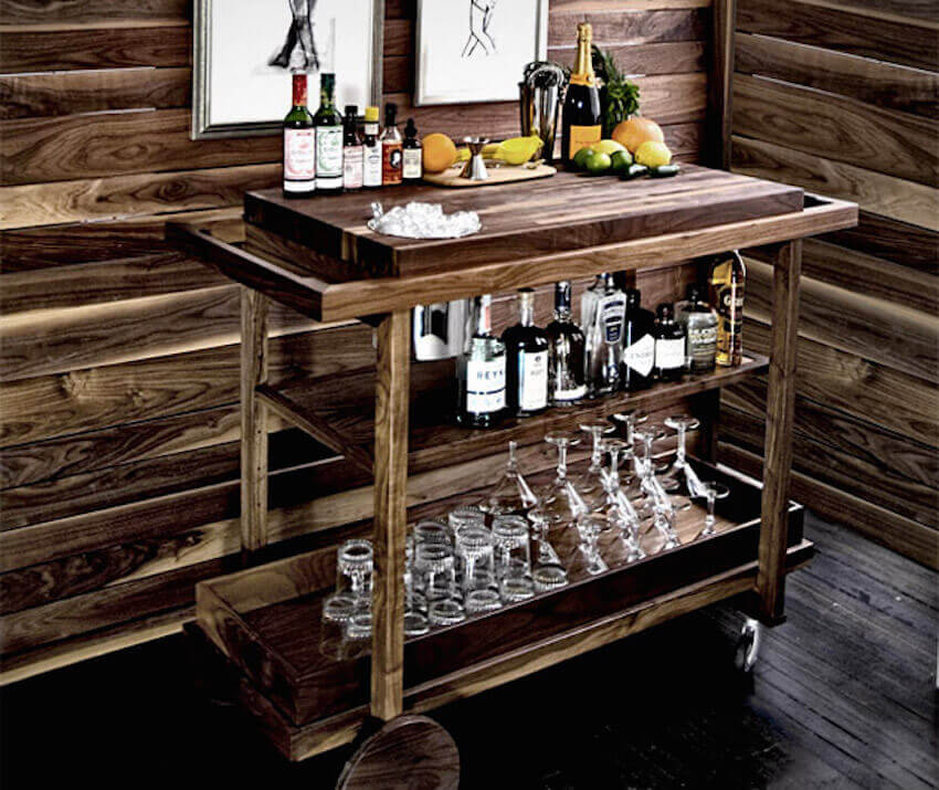 Gorgeous wooden rustic portable bar