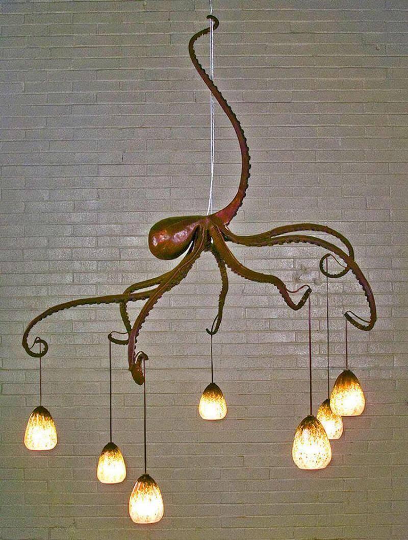 Lighting fixtures: nautical style octopus chandelier