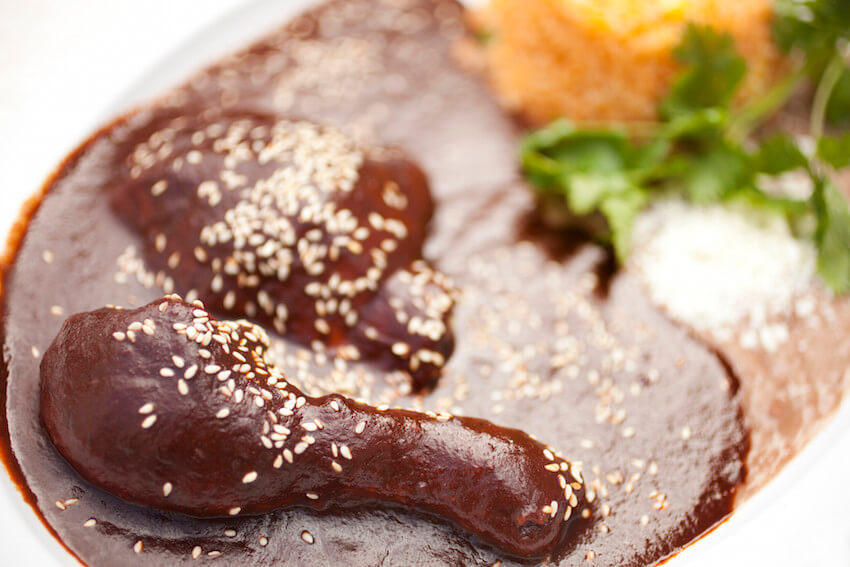 Kitchen delights: chocolate for dinner with chicken mole