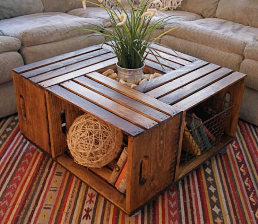 This beautiful, intricate living room table is yours to create