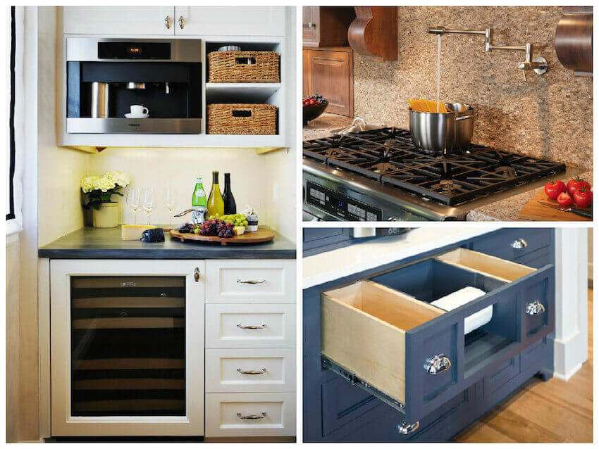 Kitchen cabinets full of practical design