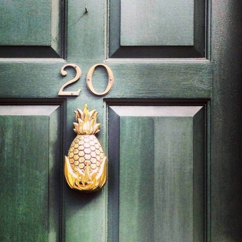 Add some pop style to your front door with this awesome golden pineapple!