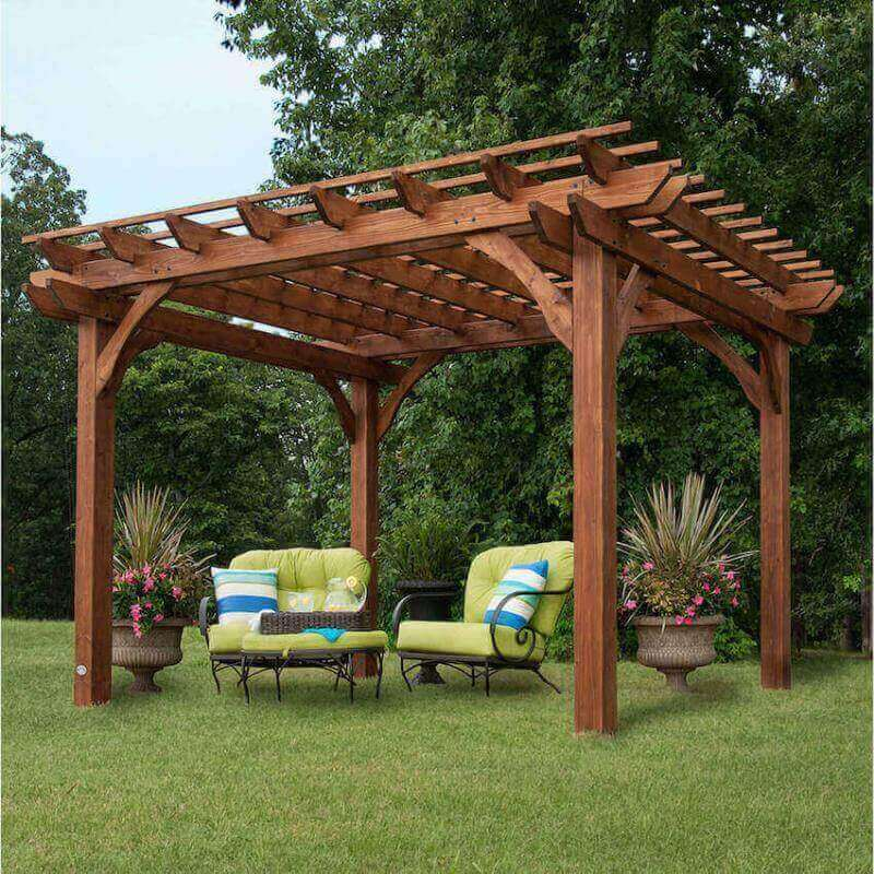 Install a new pergola in your home backyard