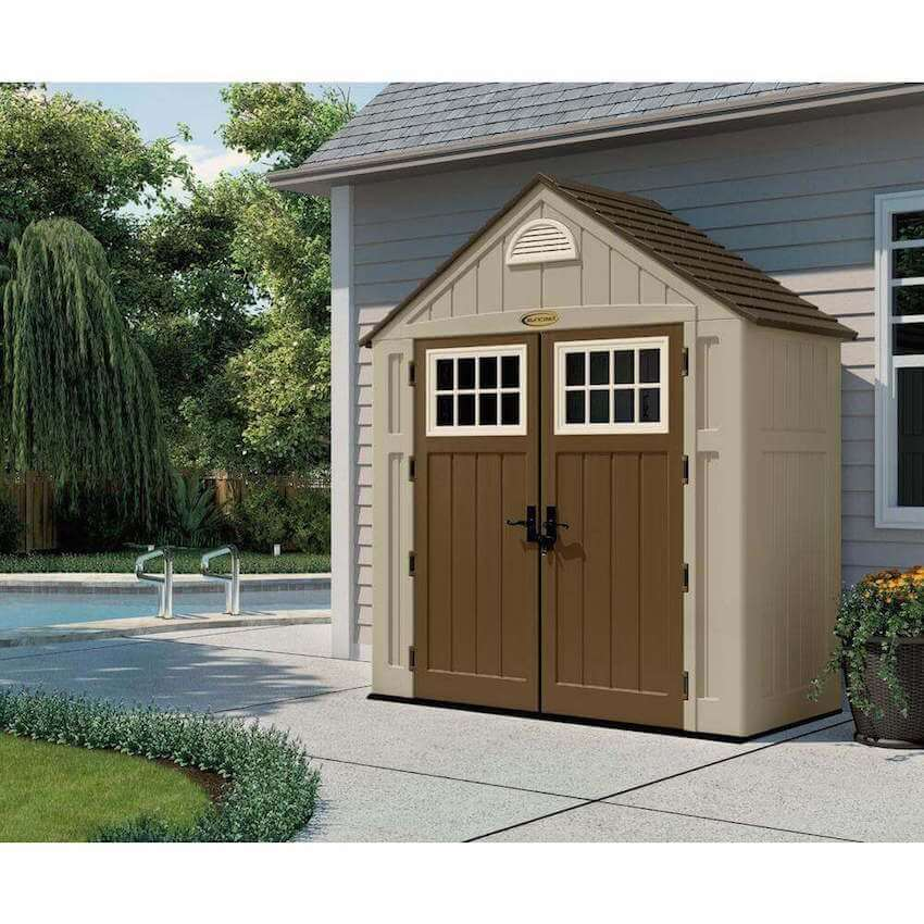 What patio is complete without a tool shed?
