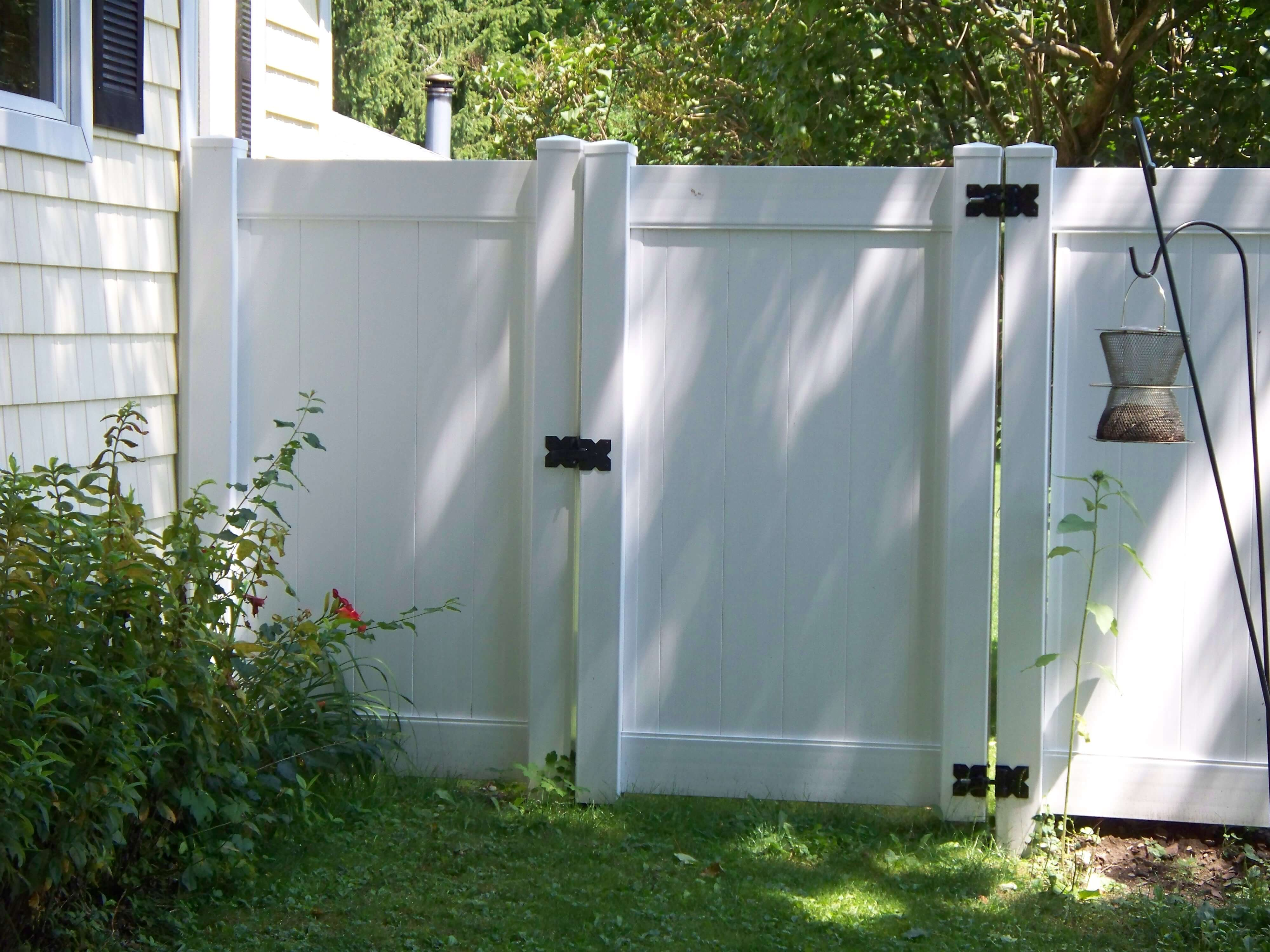 PVC fencing can also be a modern convenience.