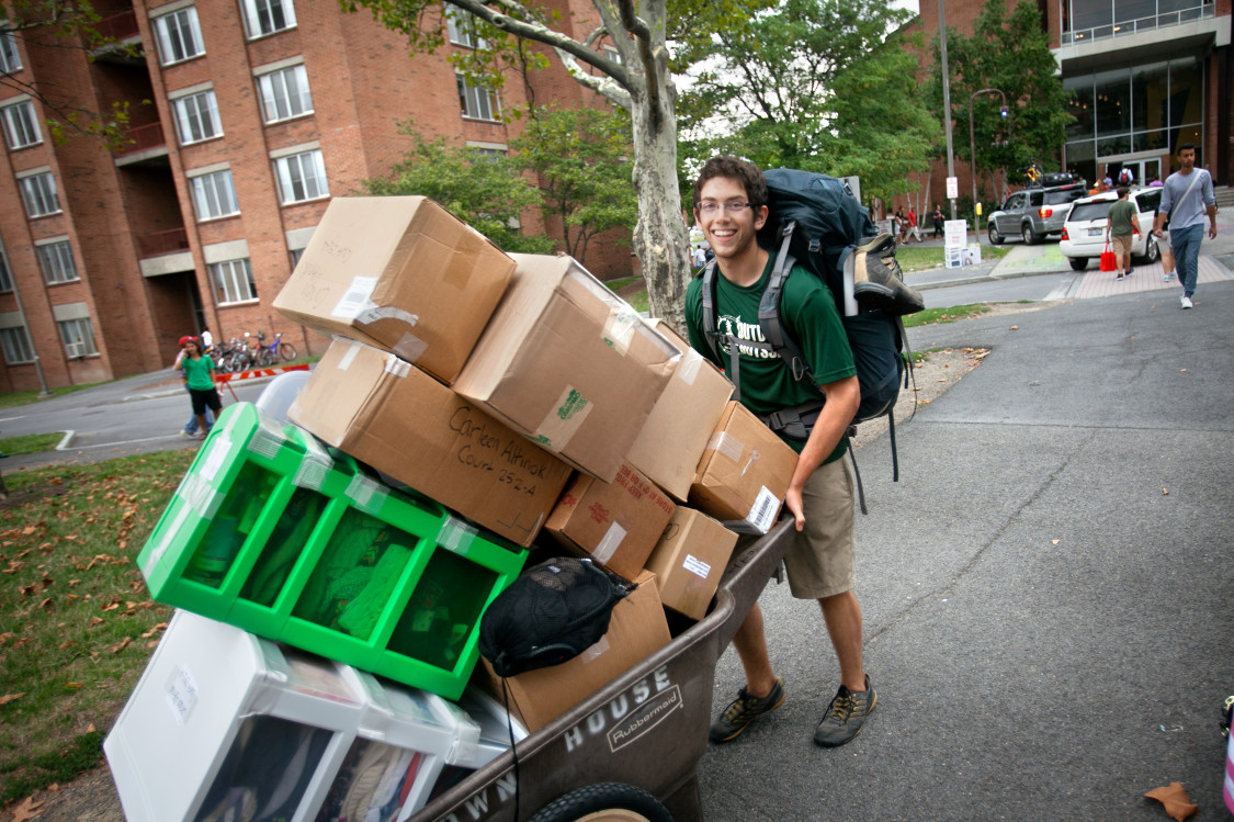 Moving into the dorms during freshman year is a very exciting time.