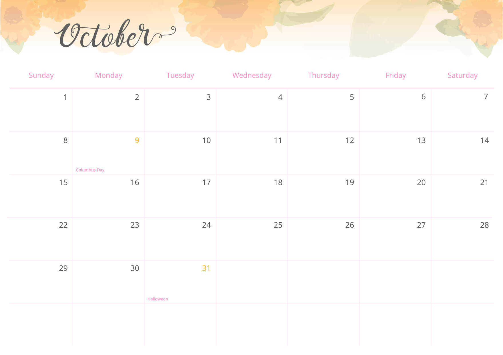 The calendar can also be used by children: let them write down important dates, such as school projects and playdates!