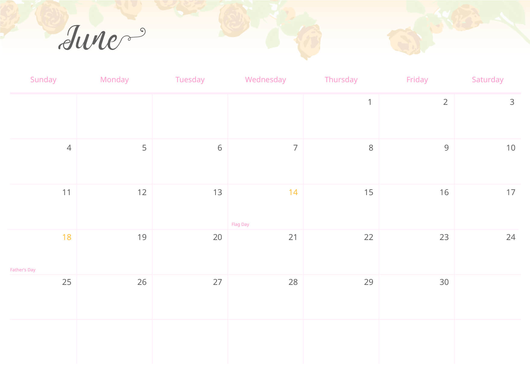 The calendar is also useful at the workplace: use to mark important meetings and projects.