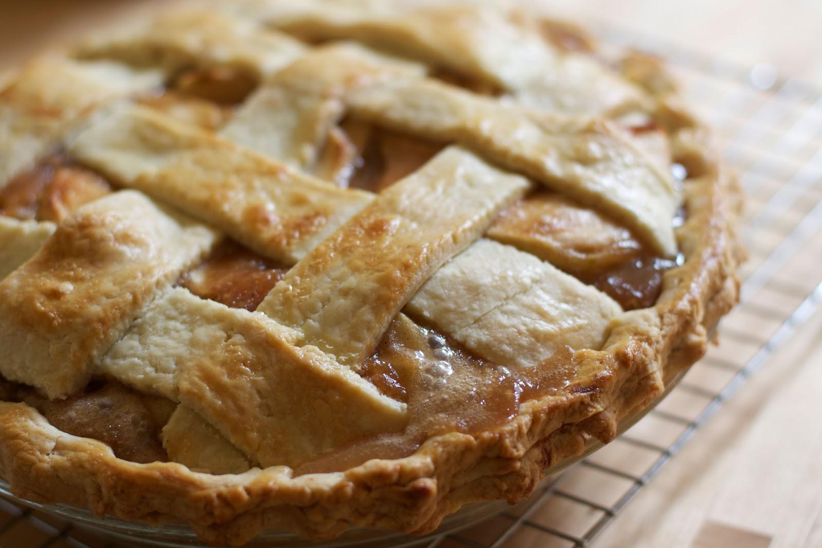 Caramel apple pie marries two American favorites.