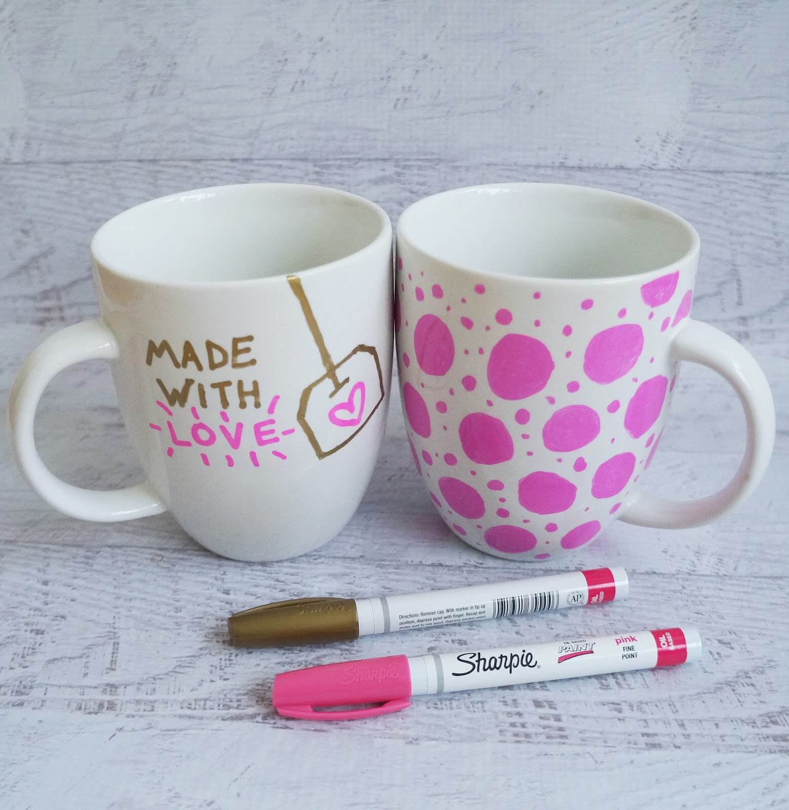 Wonderful little DIY mugs to put in your home kitchen